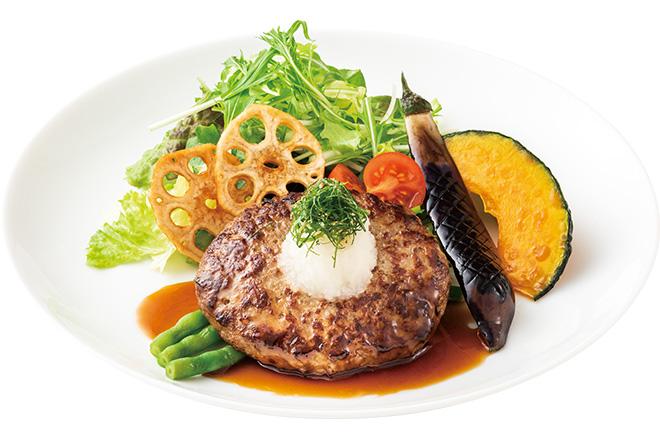 11種の野菜と食べる和風ハンバーグステーキ