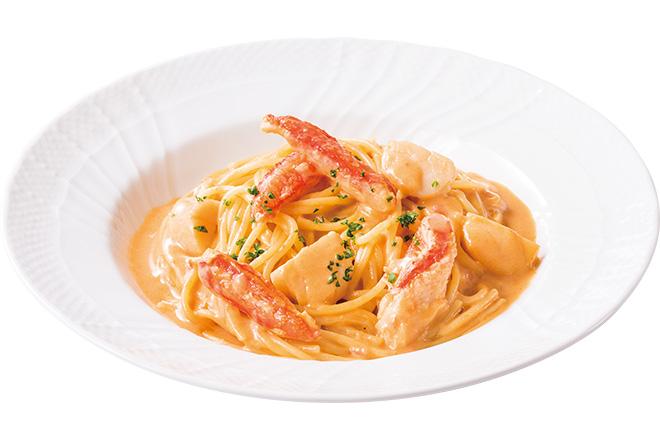 ずわい蟹と北海道産帆立のアメリケーヌソーススパゲティー