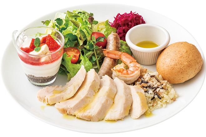 オメガバランス国産あまに鶏むね肉のサラダプレート
