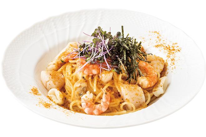 イタリア産からすみと北海道産帆立のスパゲティー