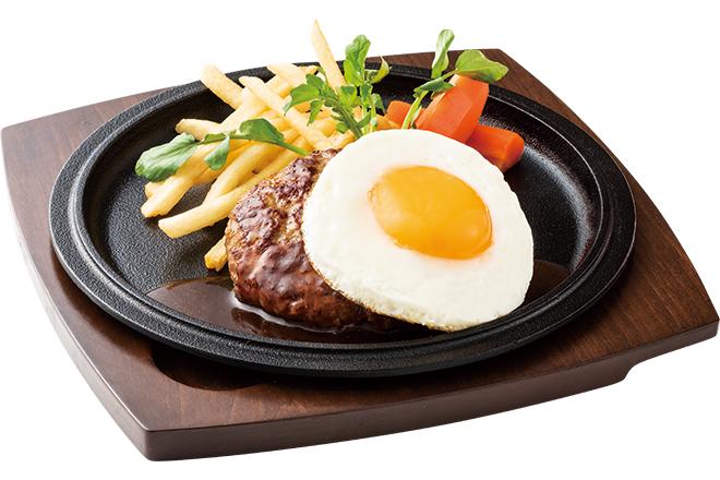ハンバーグステーキ デミグラスソース(目玉焼き添え)