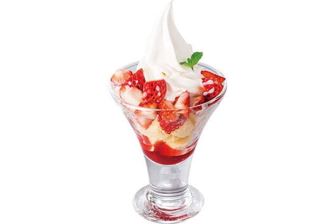 苺ミルキーソフトクリーム